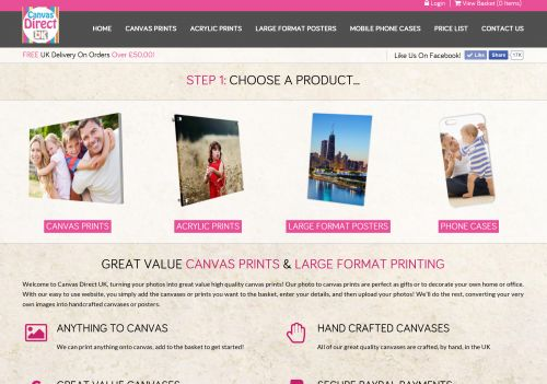 View This Web Application Project For: Canvas Direct UK